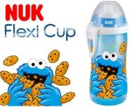 Sportovní plastová lahvička se slámkou NUK SEZAM - modrý