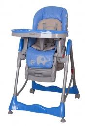 Jídelní židlička COTO BABY Mambo Blue - SLONÍCI