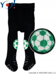 YO ! Bavlněné punčocháčky ABS na chodidle i nártu - granátové s míčem