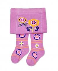 YO ! Bavlněné punčocháčky Květinky - fialová