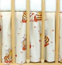VÝPRODEJ Krásný volánek pod matraci - Včeličky