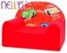 Dětské křesílko/pohovečka Nellys ® - Veselá autíčka v červeném