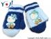 Zimní kojenecké rukavičky DUO - Jeans/sv.modrá