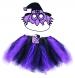 Karnevalový kostým čarodějnice/halloween fialová - sukně + maska