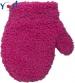 Zimní kojenecké dívčí froté rukavičky YO - malinové