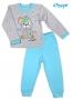 Bavlněné pyžamko NICOL LITTLE DOG - šedo/modré