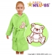 Dětský župan - Medvídek TEDDY - zelený
