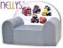 Dětské křesílko/pohovečka Nellys ® - Auta v šedé
